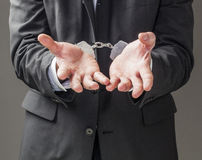 Business crime concept Stock Image