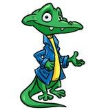 Business crocodile cartoon illustration Royalty Free Stock Photos