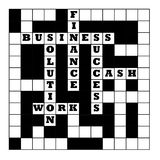 Business crossword Stock Image