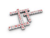 Business crossword Royalty Free Stock Photos