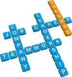 Business crossword Royalty Free Stock Photography