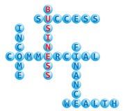 Business crossword Royalty Free Stock Photo