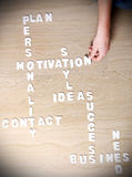 Business crossword Stock Photo