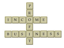 Business crossword Royalty Free Stock Image