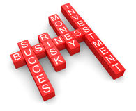 Business crossword (clipping path included) Royalty Free Stock Image