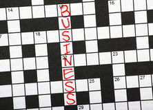 Business Crossword Clue Stock Image