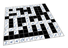 Business crossword puzzle Royalty Free Stock Image