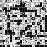 Business crossword. Vector. Stock Image