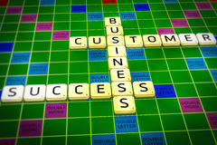 Business crosswords success customers affairs aranged in a fashion way. Business crosswords success customers affairs Stock Photography
