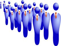 Business Crowd stock image