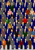 Business Crowd. A crowd of business people Royalty Free Stock Photography
