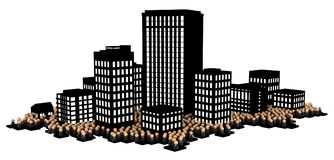 Business Crowd, Dark City Stock Images