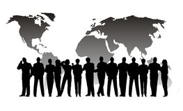 Business crowd globe Stock Photos