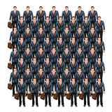 Business crowd 7 stock illustration