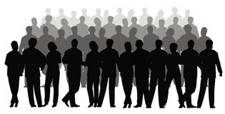 Business crowd vector. Several row Stock Photo