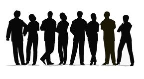 Business crowd vector. Business crowd people vector silhouette Stock Photos