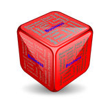 Business cube. Cube with words related to business Royalty Free Stock Photo