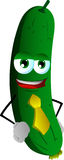 Business cucumber or pickle wearing tie Royalty Free Stock Photography