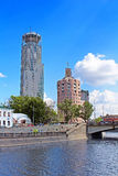 Business and cultural complex Riverside towers, Moscow Royalty Free Stock Photography