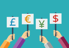 Business currency flat Stock Images