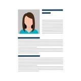 Business Curriculum Vitae or CV Stock Photography
