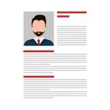 Business Curriculum Vitae or CV Stock Photo