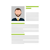 Business Curriculum Vitae or CV Stock Image