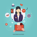 Business customer care service concept flat icons Stock Photography