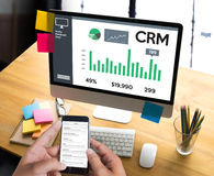 Business Customer CRM Management Analysis Service Concept , Cust Royalty Free Stock Photo