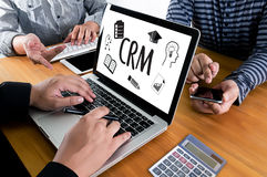 Business Customer CRM Management Analysis Service Concept , Cust Stock Image