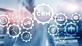 Business Customer CRM Management Analysis Service Concept. Relationship Management. royalty free stock photography