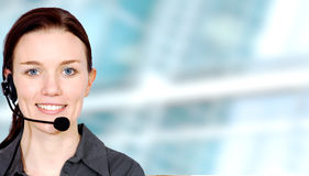 Business customer service girl Stock Image
