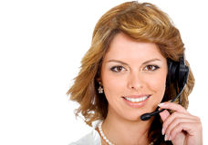 Business customer service girl Stock Photo