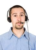 Business customer service guy Royalty Free Stock Photo