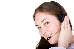 Business customer service representative woman Stock Photos