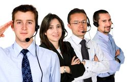 Business customer service team Stock Photo