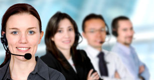 Business customer service team Royalty Free Stock Photo