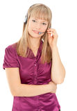 Business customer service woman Royalty Free Stock Photography