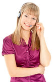 Business customer service woman Royalty Free Stock Photo