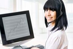 Business customer service woman Stock Photo