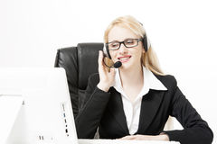 Business customer services agent Stock Image