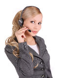 Business customer support female operator Royalty Free Stock Photo