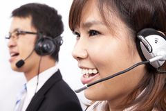 Business customer support girl Royalty Free Stock Photo