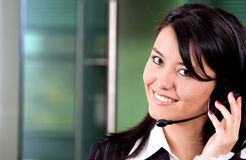 Business customer support girl Stock Image