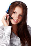 Business customer support operator Royalty Free Stock Images