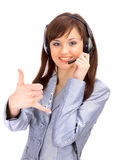 Business Customer Support Operator Stock Image