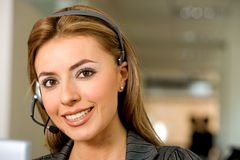 Business customer support operator Royalty Free Stock Photos