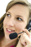 Business customer support operator Stock Photo
