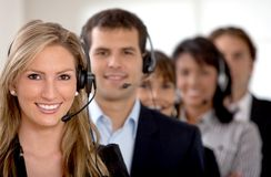 Business customer support team Stock Photos