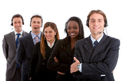 Business customer support team Stock Photo
